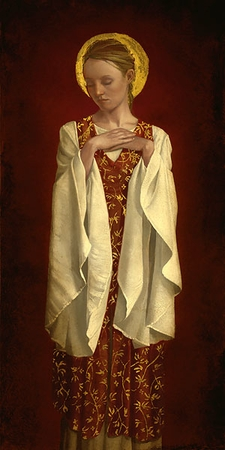 "James Christensen Handsigned & Numbered Limited Edition Print: ""Saint with White Sleeves """