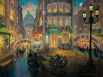 "James Coleman Hand Signed and Numbered Limited Edition Canvas Giclee:"" Finding Love in Venice"""