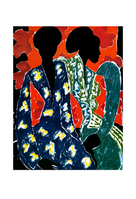 """James Denmark Limited Edition Signed Giclee Ed. 250:""""Two Women"""""""
