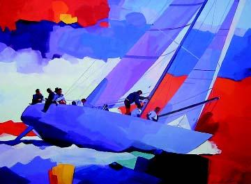 """James Dewitt Hand Signed and Numbered Limited Edition: """"Formula I Yacht Racing"""""""