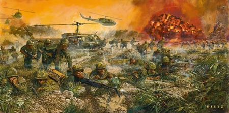 "James Dietz Hand Signed and Numbered Limited Edition Print:""We Live to Honor Them - 50th anniversary of the Vietnam War"""