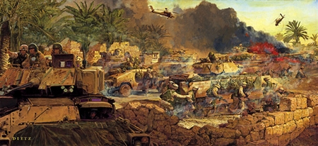 """James Dietz Limited Edition Artist Proof Print:""""The Rock of the Marne -Tigris and Euphrates"""""""