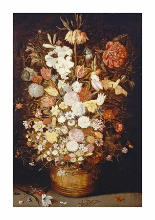 """Jan Bruegel II Fine Art Open Edition Giclée:""""A Crown Imperial, a Peony and Other Flowers"""""""