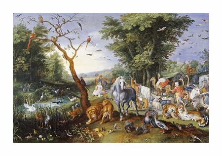 "Jan Bruegel II Fine Art Open Edition Giclée:""Animals Entering Noah's Ark"""