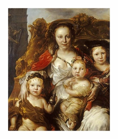 "Jan Van Noordt Fine Art Open Edition Giclée:""A Pastoral Group Portrait"""