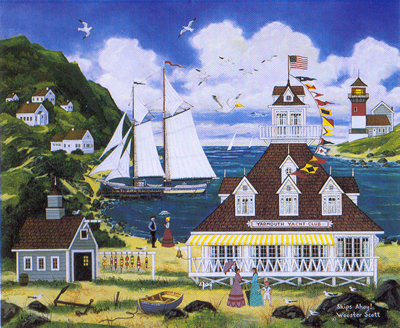 "Jane Wooster Scott Hand Signed and Numbered Limited Edition Lithograph:""Ships Ahoy!"""