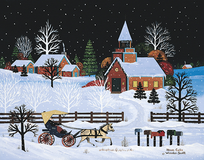 """Jane Wooster Scott HAndsigned and Numbered Limited Edition Giclee on Paper:""""House Calls"""""""