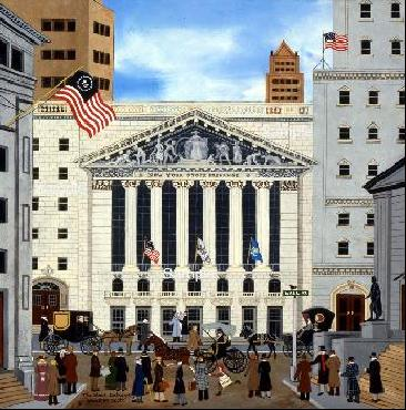 "Jane Wooster Scott Limited Edition Print:""The Stock Exchange """