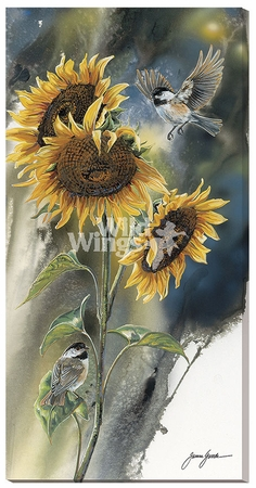 "Janene Grende Limited Edition Print:""Golden Sun – Chickadee"""