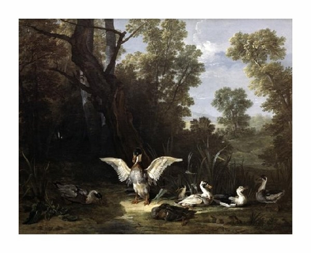 "Jean-Baptiste Oudry Fine Art Open Edition Giclée:""Ducks"""