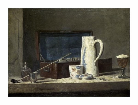 "Jean Baptiste Simeon Chardin Fine Art Open Edition Giclée:""Smoking Kit with a Drinking Pot"""