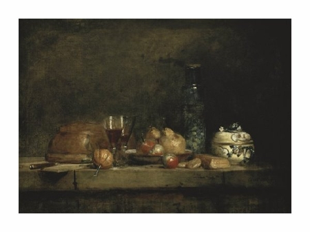 "Jean Baptiste Simeon Chardin Fine Art Open Edition Giclée:""The Jar of Olives"""