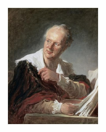 "Jean Honore Fragonard Fine Art Open Edition Giclée:""Portrait of Diderot"""