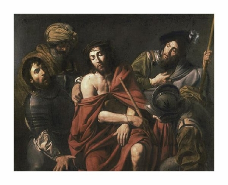 "Jean Valentin De Boulogn Fine Art Open Edition Giclée:""Jesus Insulted by the Soldiers"""