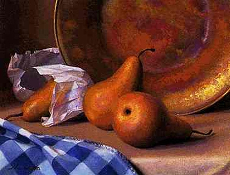 "Jeff Larson Canvas Edition Print: ""Bosc Pears"""