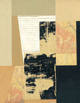 """Jeff Long Signed and Numbered Limited Edition Giclée on Somerset Velvet Paper:""""Map III"""""""