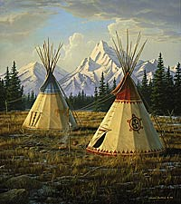 "Jim Hautman Limited Edition Print:"" Cheyenne Village"""