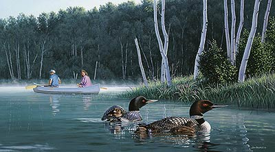 "Jim Kasper Limited Edition Print:""Two By Two-Loons """
