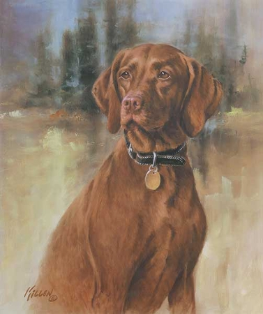 "Jim Killen Handsigned Open Edition:""That's My Dog-Vizsla"""