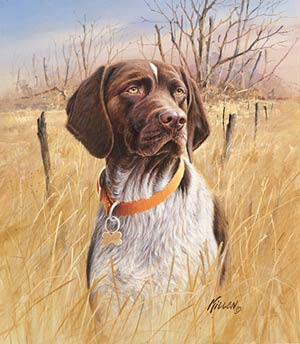 "Jim Killen Open Edition Print:""That's My Dog - Shorthair """