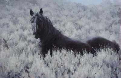 """Jim Rey Handsigned & Numbered Limited Edition:""""Mustang In The Sage"""""""