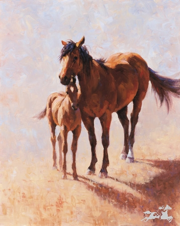 """Jim Rey Handsigned & Numbered Limited Edition Print:""""Mustang Mama """""""