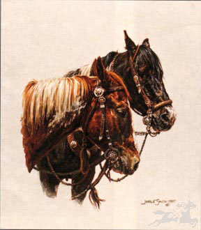 "Joelle Smith Hand Signed and Numbered Limited Edition Lithograph On Paper ""Pete and Indy"""