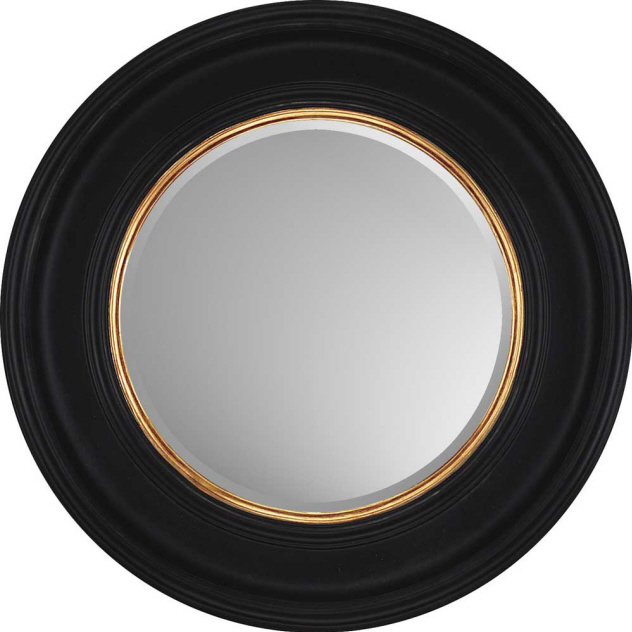Decorative Wall Mirror by ParagonRound Black with Gold Mirrors