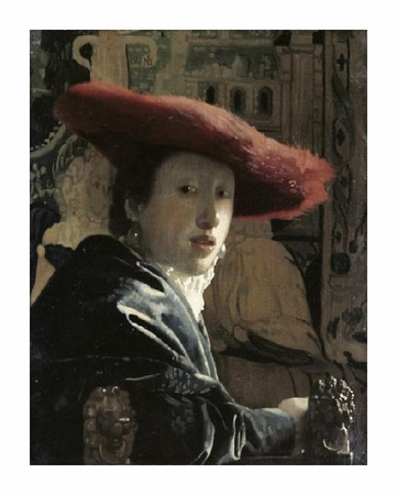 "Johannes Vermeer Fine Art Open Edition Giclée:""Girl with a Red Hat"""