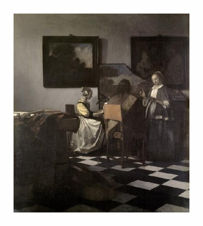 "Johannes Vermeer Fine Art Open Edition Giclée:""The Concert"""