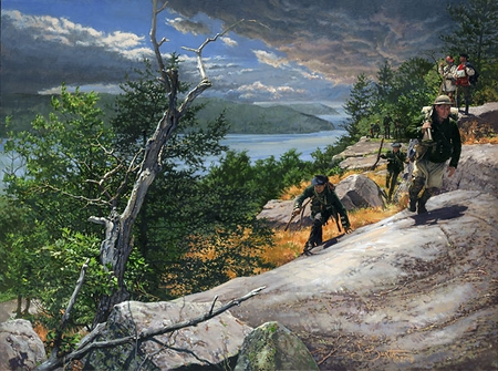 "John Buxton Handsigned & Numbered Limited Edition Print:""Rogers' Rangers Toward Ticonderoga"""