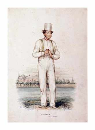 """John Corbet Anderson Fine Art Open Edition Giclée:""""William Hillyer, at Lords"""""""