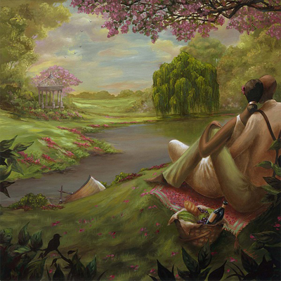 """John Holyfield Handsigned and Numbered Limited Edition :""""Romantic Rendezvous"""""""