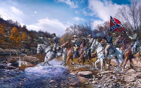 "John Paul Strain Hand Signed and Numbered Limited Edition Print:""Charge Across the Harpath"""