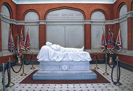 "John Paul Strain Hand Signed and Numbered Limited Edition Giclee:""Robert E. Lee's Memorial"""