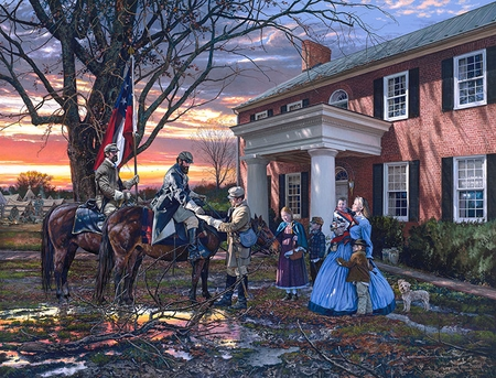 "John Paul Strain Hand Signed and Numbered Limited Edition Giclee:""Evening Orders in Strasburg"""