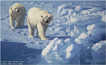 "John Seerey – Lester Limited Edition Print:""Along The Ice Floe - Polar Bears"""