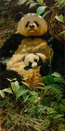 "John Seerey-Lester Limited Edition Print: ""Celebrating Hua Mei-Panda"""