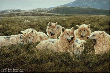 "John Seerey – Lester Limited Edition Print:""Tundra Family - Arctic Wolves"""