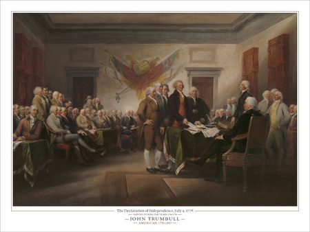 "John Trumbull Open Edition Fine Art Giclèe:""The Declaration of Independence, July 4th 1776"""