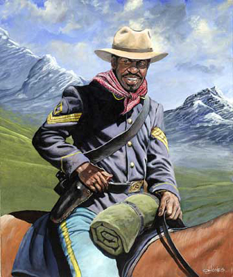 "John W. Jones Limited Edition Fine Art Print :""Buffalo Soldier on Patrol"""