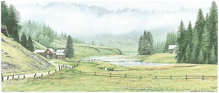 "Jon Crane Handsigned & Numbered Limited Edition Giclee on Paper:""Unto The Hills"""