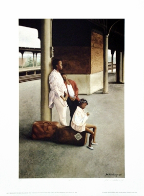 "Jose A. Sebourne Limited Edition Print:""Station Stop"""
