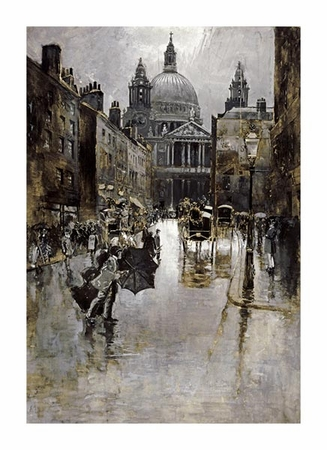 "Joseph Pennell Fine Art Open Edition Giclée:""West Front of St Paul's from Ludgate Hill"""