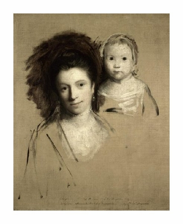 "Joshua Reynolds Fine Art Open Edition Giclée:""Study of Giorgina and Her Daughter"""