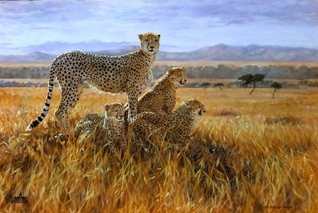 "Julia Rogers Handsigned and Numbered Limited Edition Canvas: ""A Vantage Point"""