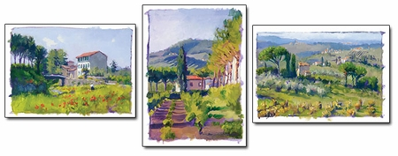 "June Carey Handsigned and Numbered Limited Edition Prints (Suite of 3) :""Studies of...Dona di Natura"""