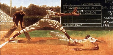 "Kadir Nelson Hand signed and Numbered Limited Edition Print :""Cooool Papa Bell"""