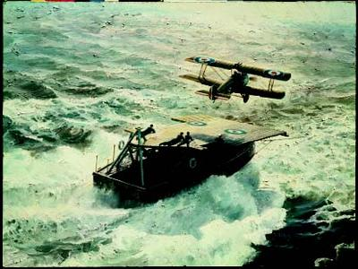 """Keith Ferris Hand Signed and Numbered Limited Edition: """"Just Airborne at Sea"""""""