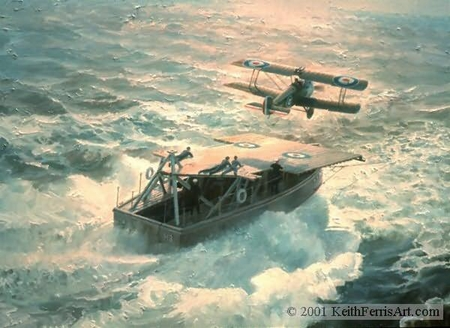 "Keith Ferris Handsigned and Numbered Limited Edition :""Just Airborne, At Sea"""